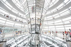 Reichstag builsing interior Royalty Free Stock Images