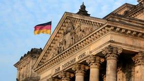 Reichstag Bulding in Berlijn, Duitsland stock videobeelden