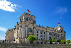 Reichstag, Bundestag/- budynek niemiecki parlament w berli fotografia stock
