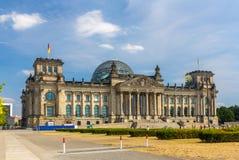 Reichstag byggnad i Berlin, Tyskland Arkivfoton