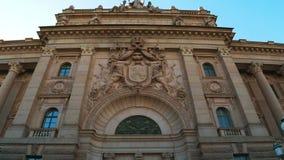 Reichstag byggnad i Stockholm sweden lager videofilmer