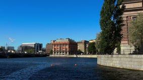 Reichstag byggnad i Stockholm sweden arkivfilmer