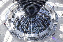 Reichstag central natural light reflector Royalty Free Stock Image