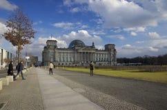 Reichstag che costruisce Berlino, Germania Fotografie Stock