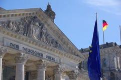 Reichstag, das berühmte Parlament von Deutschland stockfotografie