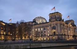 Reichstag de Berlim Imagens de Stock