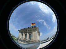 Reichstag die Berlijn bouwt Stock Afbeeldingen