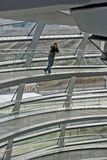 The Reichstag Dome. The spiral ramps in the dome of Berlin parliament Royalty Free Stock Images