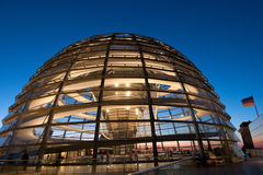 Reichstag Dome, Berlin Royalty Free Stock Photos