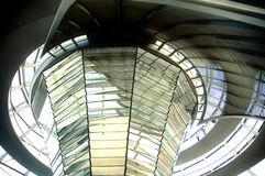 Reichstag Dome - Berlin. Berlin - Inside of the German parliament building dome Royalty Free Stock Photography