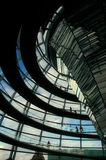 Reichstag Dome - Berlin. Berlin - Inside of the German parliament building dome Royalty Free Stock Photos