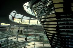 Reichstag Dome - Berlin. Berlin - Inside of the German parliament building dome Stock Photo