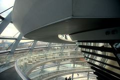 Reichstag Dome - Berlin. Berlin - Inside of the German parliament building dome Royalty Free Stock Image