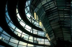 Reichstag Dome - Berlin. Berlin - Inside of the German parliament building dome Stock Photos