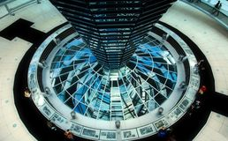 Reichstag Dome - Berlin. Berlin - Inside of the German parliament building dome Stock Photography