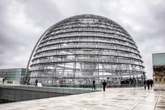 Reichstag dome in Berlin, Germany Royalty Free Stock Photos