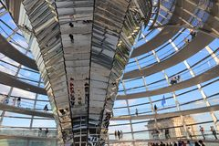 Reichstag dome Royalty Free Stock Photo