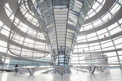 Reichstag Dome, Berlin modern achitecture. Of the governament building by Norman Foster architect stock image