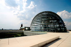 Reichstag Dome. The current Reichstag dome is a glass dome, constructed on top of the rebuilt Reichstag building in Berlin. It was designed by architect Norman Royalty Free Stock Image