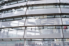 Reichstag dome detail Stock Photos