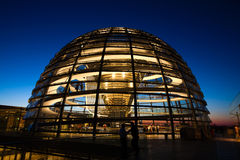 Reichstag dome exterior Royalty Free Stock Images