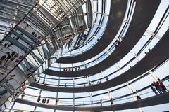 Reichstag dome at the German parliament Stock Photos