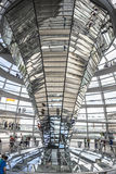 Reichstag dome at the German parliament in Berlin, Germany Stock Images