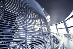 The Reichstag dome is a glass dome constructed on top of the rebuilt Reichstag building Royalty Free Stock Photography