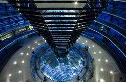 Reichstag dome interior Stock Photos
