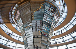 Reichstag dome interior Royalty Free Stock Images