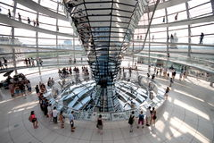 Reichstag Dome Interior. The current Reichstag dome is a glass dome, constructed on top of the rebuilt Reichstag building in Berlin. It was designed by architect Stock Photos