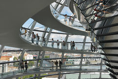The Reichstag dome is open for tourists and other visitors. royalty free stock photography