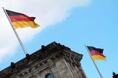 Reichstag (edificio del parlamento) en Berlín Foto de archivo libre de regalías