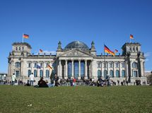 Reichstag em Berlim Imagens de Stock Royalty Free
