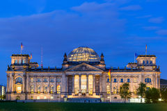 Reichstag em Berlim Foto de Stock Royalty Free