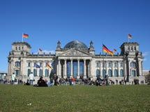 Reichstag en Berlín Imágenes de archivo libres de regalías