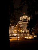 Reichstag en la noche Imagen de archivo libre de regalías