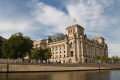 reichstag för berlin byggnadsgermany parlament Arkivfoto