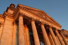 reichstag för berlin byggnadsgermany parlament Arkivbilder