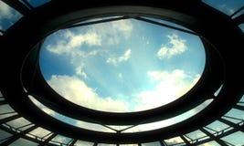 reichstag för berlin kupolescape arkivbilder