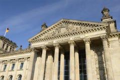 reichstag för parlament för berlin byggnad tysk Arkivbilder