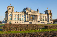 Reichstag (german parliament) building in Berlin, Germany Royalty Free Stock Image