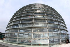 Reichstag glass dome Royalty Free Stock Photo