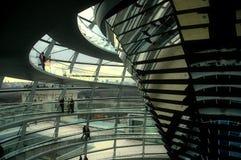 Reichstag Haube - Berlin Stockfoto