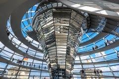 Reichstag-Haube, Parlamentsgebäude in Berlin, Deutschland, Europa stockfotos