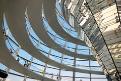 Reichstag-Hauben-Innenraum Stockfotos