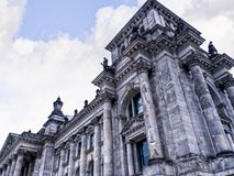 The Reichstag is a historic edifice in Berlin, Germany, constructed to house the Imperial Diet of the German Empire Royalty Free Stock Photo