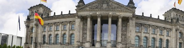 The Reichstag is a historic edifice in Berlin, Germany, constructed to house the Imperial Diet of the German Empire. It was opened in 1894 and housed the Diet Stock Photo