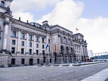 The Reichstag is a historic edifice in Berlin, Germany, constructed to house the Imperial Diet of the German Empire Stock Photo