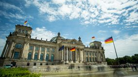 Reichstag house of German parliament in Berlin stock video footage